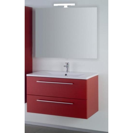Sanotechnik composizione da bagno con specchio Fiora 90
