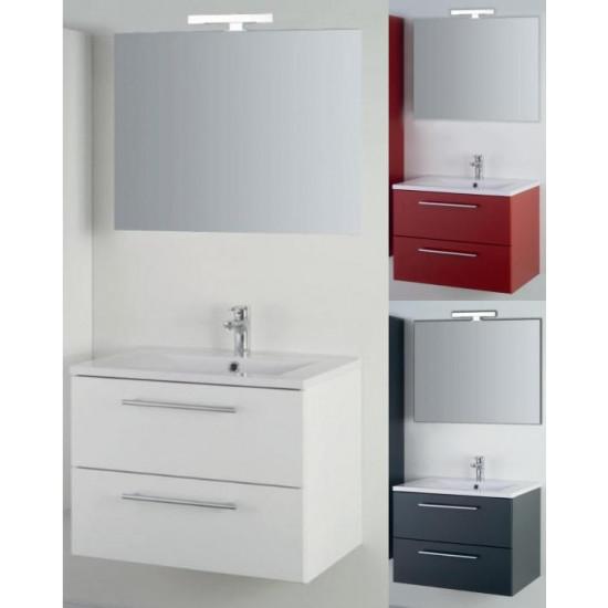 Sanotechnik composizione da bagno con specchio Fiora 70