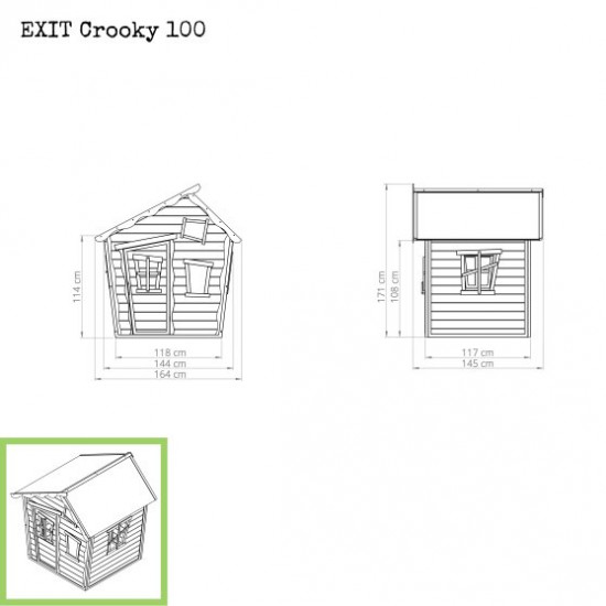 Casa per bambini Crooky 100