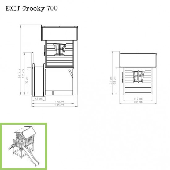 Casa per bambini Crooky 700